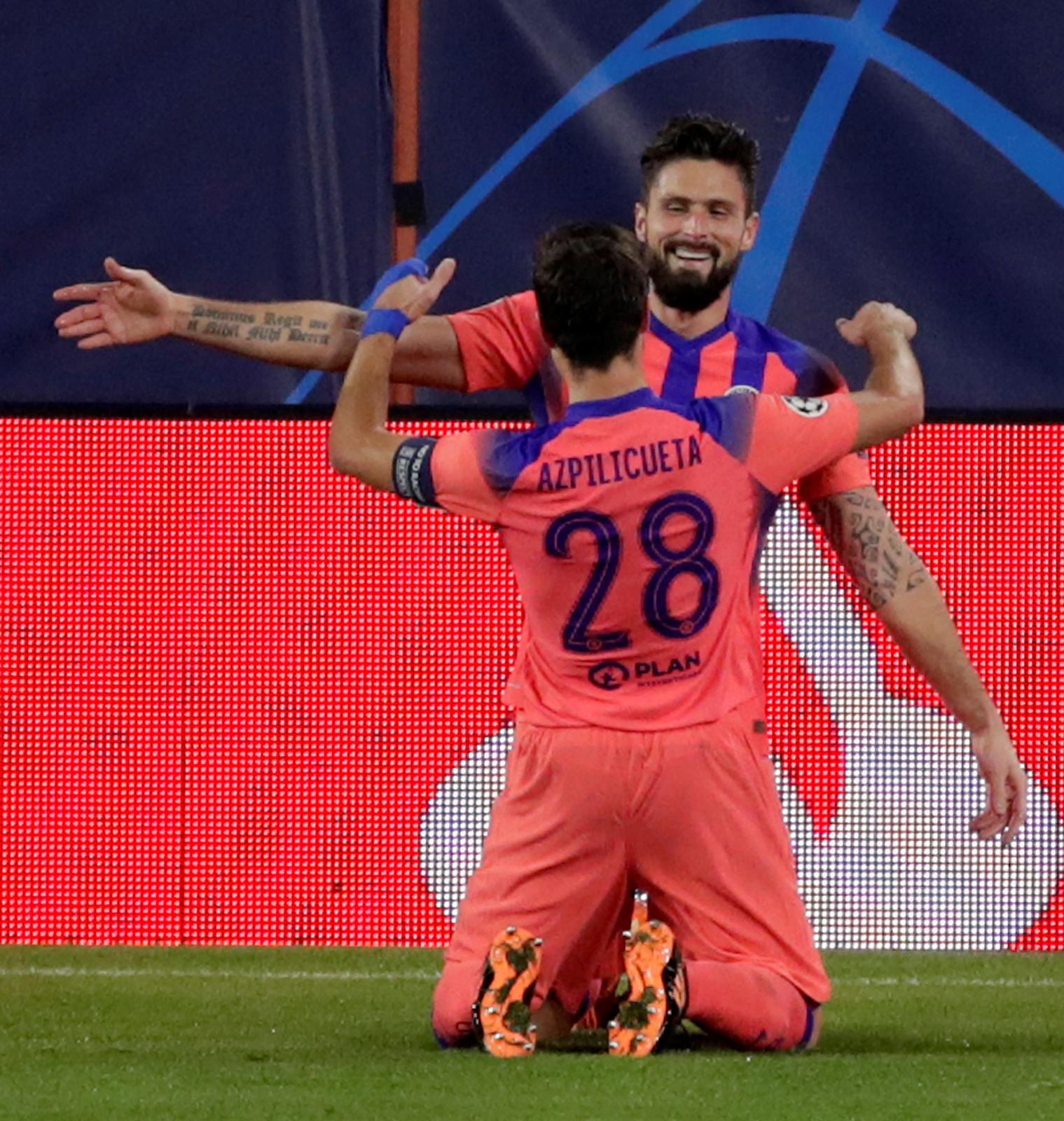 Liga Mistrzów. Sevilla - Chelsea: cztery gole Oliviera Giroud dały gościom wygraną - Sport WP SportoweFakty